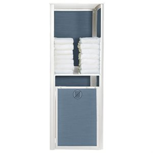 Sunset Towel Valet, Single Unit, Madras Blue / Glacier White