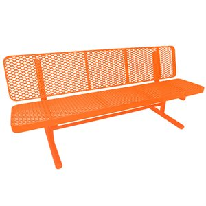 Premier Polysteel Champion Supreme Bench, 8 ft, with Backrest