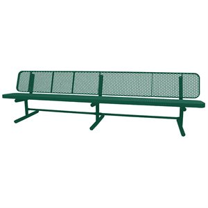 Premier Polysteel Champion Supreme Bench, 10 ft, with Backrest