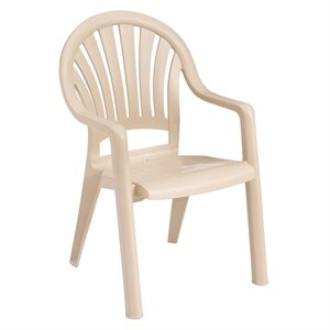 Stackable Chair, Pacific High Back, Sandstone, Case of 16