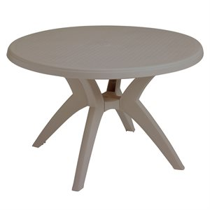 "Ibiza Y-Leg Table 46"" Round, French Taupe"