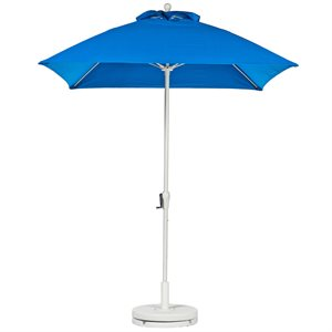 Fiberglass Market Umbrella with Crank, Standard Color (Select Size, Tilt Option)