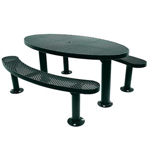 Premier Polysteel 6 ft Oval Table, Multi Pedestal, Surface Mount