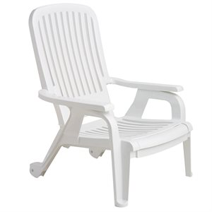 Bahia Stackable Chair, White, Case of 10