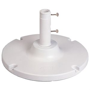 "Grosfillex Umbrella Base, 35 Lb. with 10"" Stem, White"