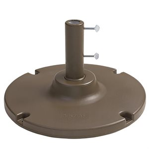 "Grosfillex Umbrella Base, 35 Lb. with 10"" Stem, Bronze Mist"