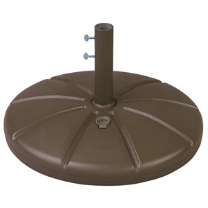 Grosfillex Umbrella Base, Resin, Fillable, Bronze Mist