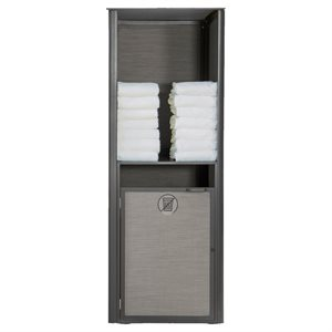 Sunset Towel Valet, Single Unit, Solid Gray / Volcanic Black