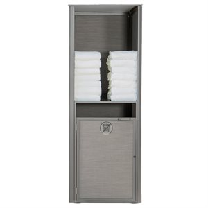 Sunset Towel Valet, Single Unit, Solid Gray / Platinum Gray