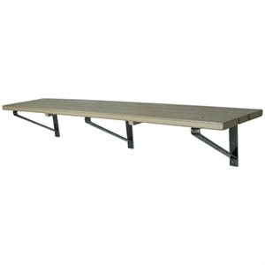 Plastic Bench, Wall Mount, 10 Ft.