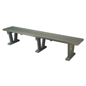 Plastic Bench, Free Standing - Wide, 10 Ft.
