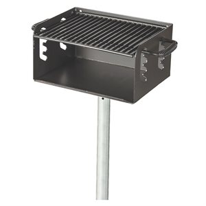 Multi-Level Pedestal Park Grill